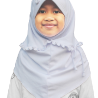 Jilbab Putih Sekolah Anak Edelweis