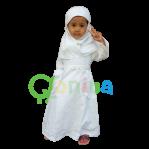 Gamis Putih Manasik Haji Anak